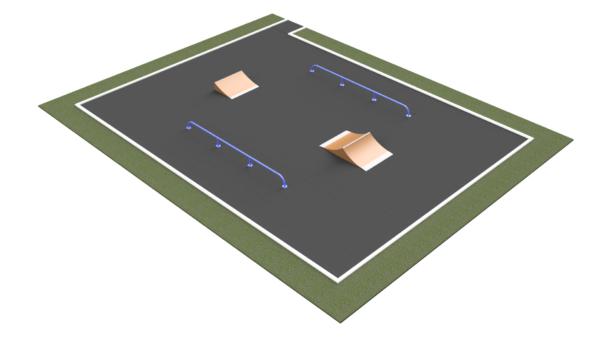 Готовое решение скейт-площадки ММ-270