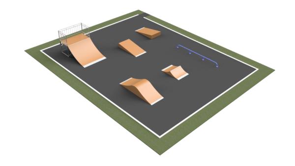 Готовое решение скейт-площадки ММ-271
