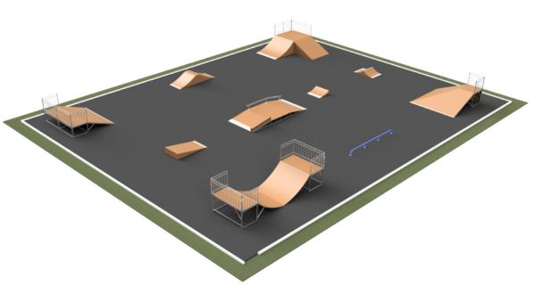Готовое решение скейт-площадки ММ-272