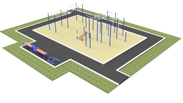 Готовое решение спортивной площадки ММ-301