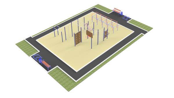 Готовое решение спортивной площадки ММ-302