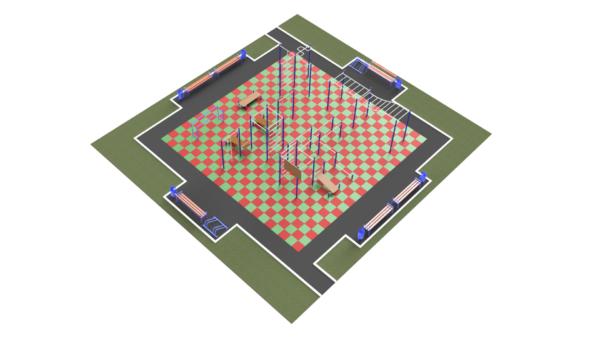 Готовое решение спортивной площадки ММ-305