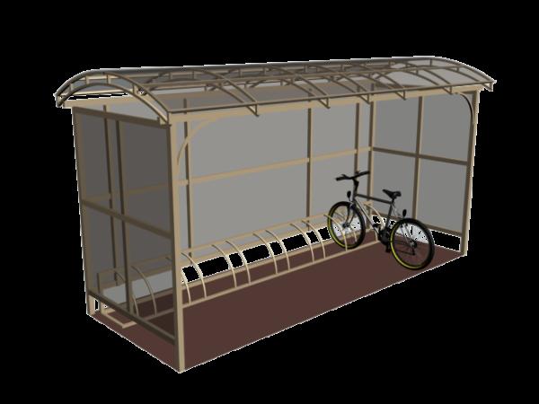 Крытая велопарковка на десять мест