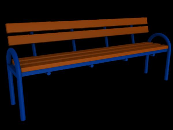 Скамья со спинкой ММ-42