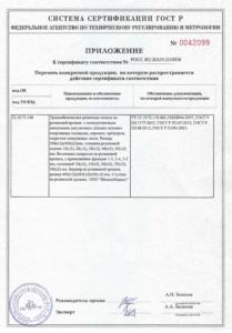 Сертификат соответствия ООО МеталлМаркет