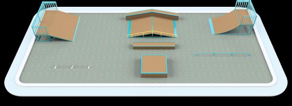 Готовое решение скейт-площадки 20×9 м