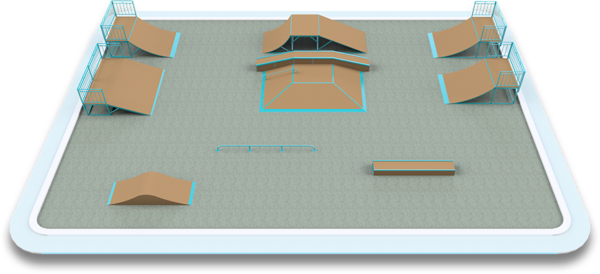 Готовое решение скейт-площадки 22×15 м