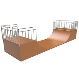 Элемент для скейт-площадки ММ-204 Half pipe