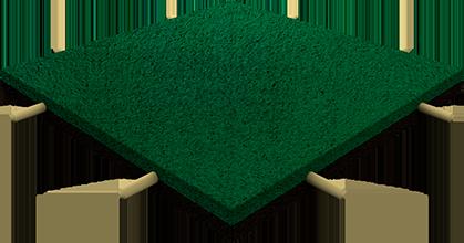 Травмобезопасная резиновая плитка со втулками — 40 мм